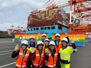 Rainbow Shipping Container